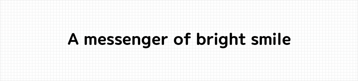 An image showing the difference between bold and regular in Binggrae font.